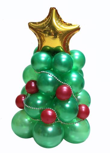 ideas decoracin con globos para fiestas de navidad - Arbol De Navidad Pequeo