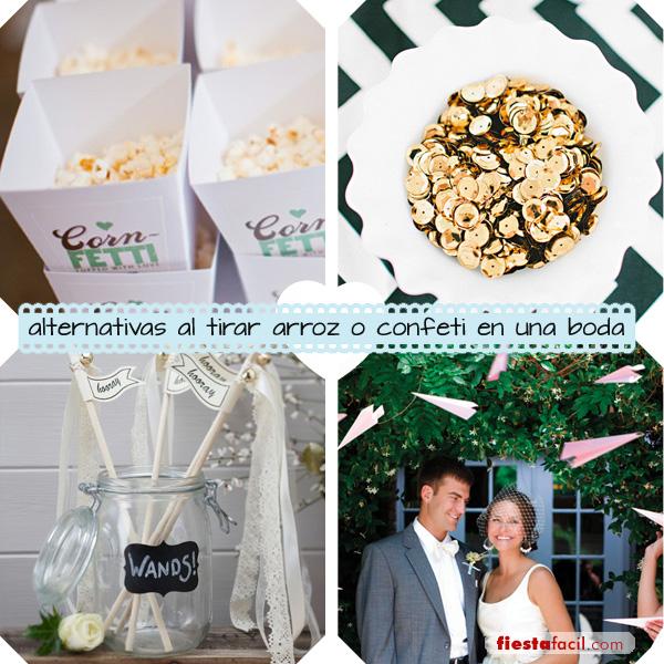 Ideas para bodas alternativas al arroz o confeti - Como hacer una boda diferente ...
