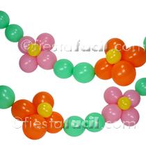 cmo hacer una guirnalda de flores con globos para la decoracin de fiestas