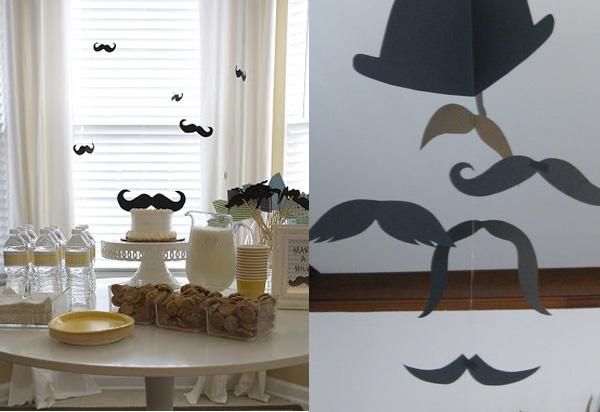 Fiesta bigotes ideas revista fiestafacil for Decoracion salon 50 anos hombre