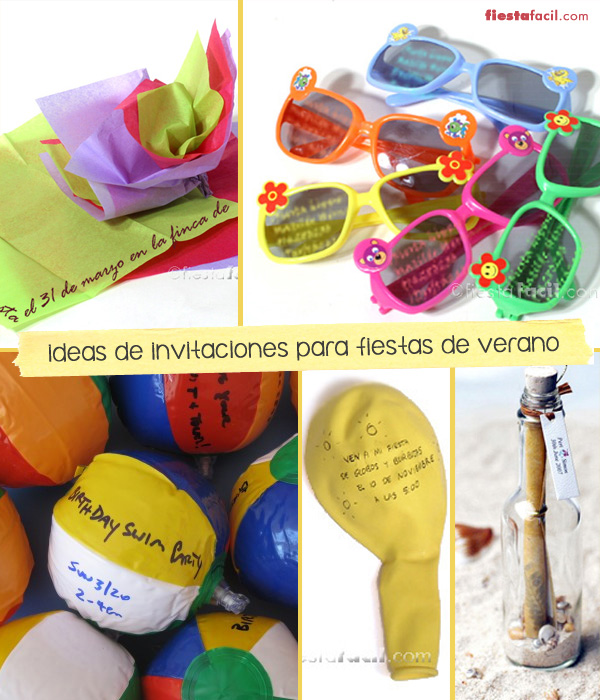 Fiesta verano 10 ideas para invitaciones originales for Fiestas ideas originales