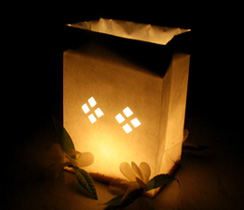 Luminarias revista fiestafacil - Bolsas de papel para velas ...