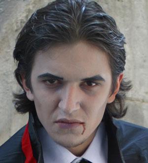 Un vampiro amenazante