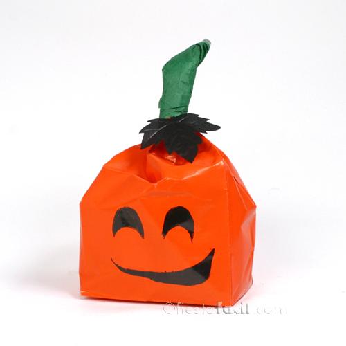 C mo hacer bolsas de regalo con forma de calabazas - Como hacer bolsas de regalo ...