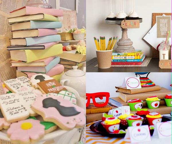 Fiesta vuelta al cole ideas para la decoraci n revista fiestafacil - Decoracion de librerias ...