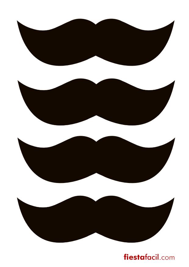 Fiesta bigotes: Imprimibles gratuitos - Revista - Fiestafacil